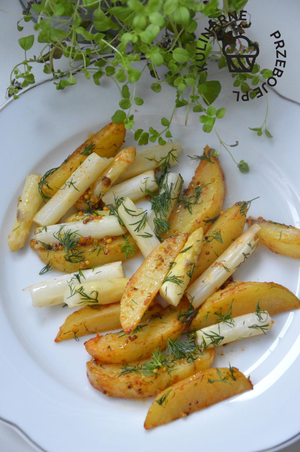 białe szparagi pieczone z ziemniakami