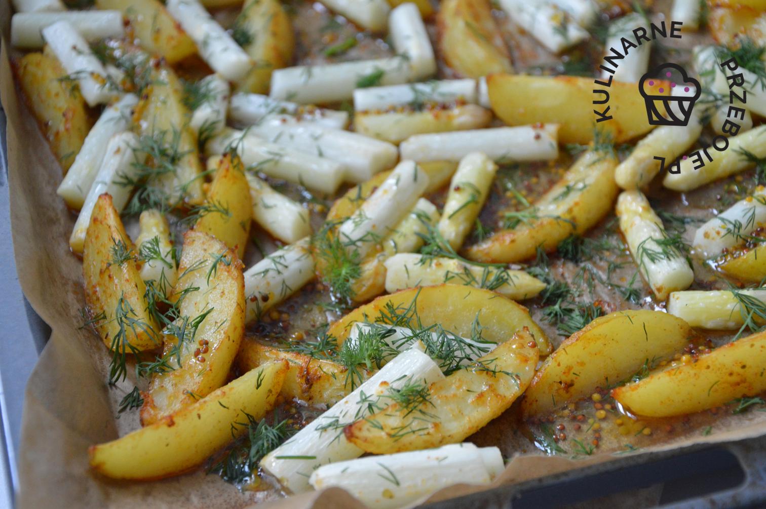białe szparagi pieczone