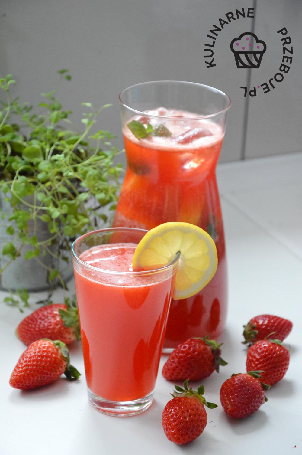 lemoniada z truskawek i cytryny