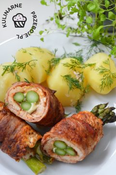 roladki z kurczaka ze szparagami