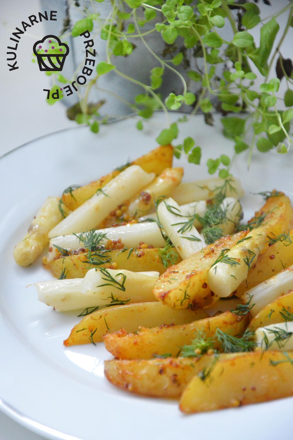 szparagi pieczone z młodymi ziemniakami