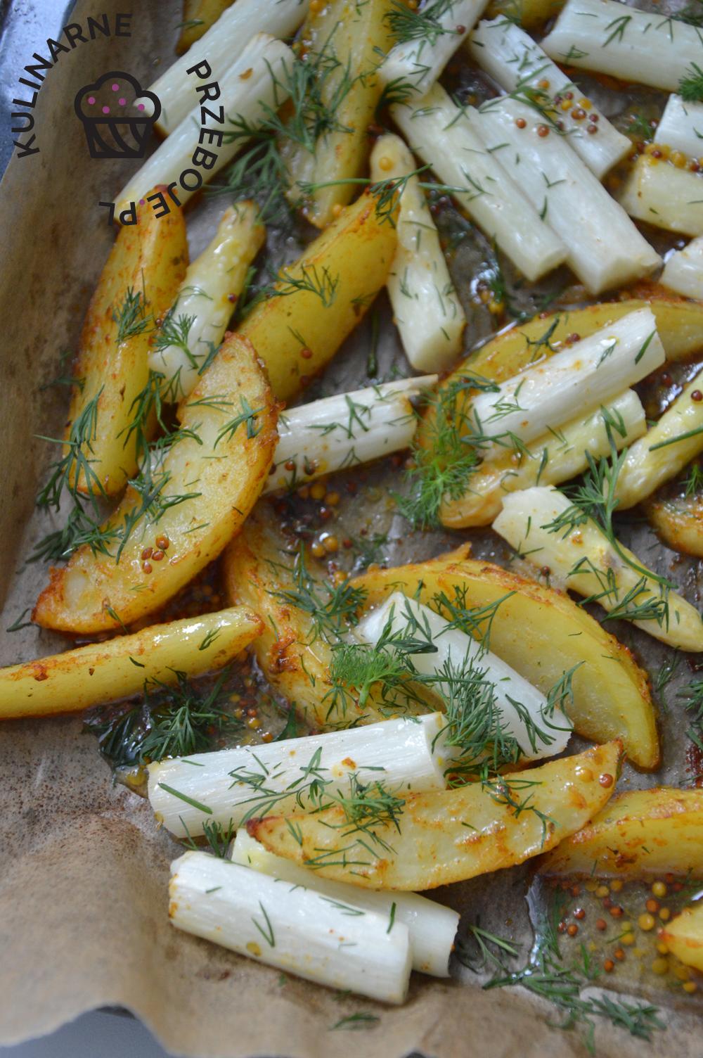 szparagi w sosie miodowym vinegrette