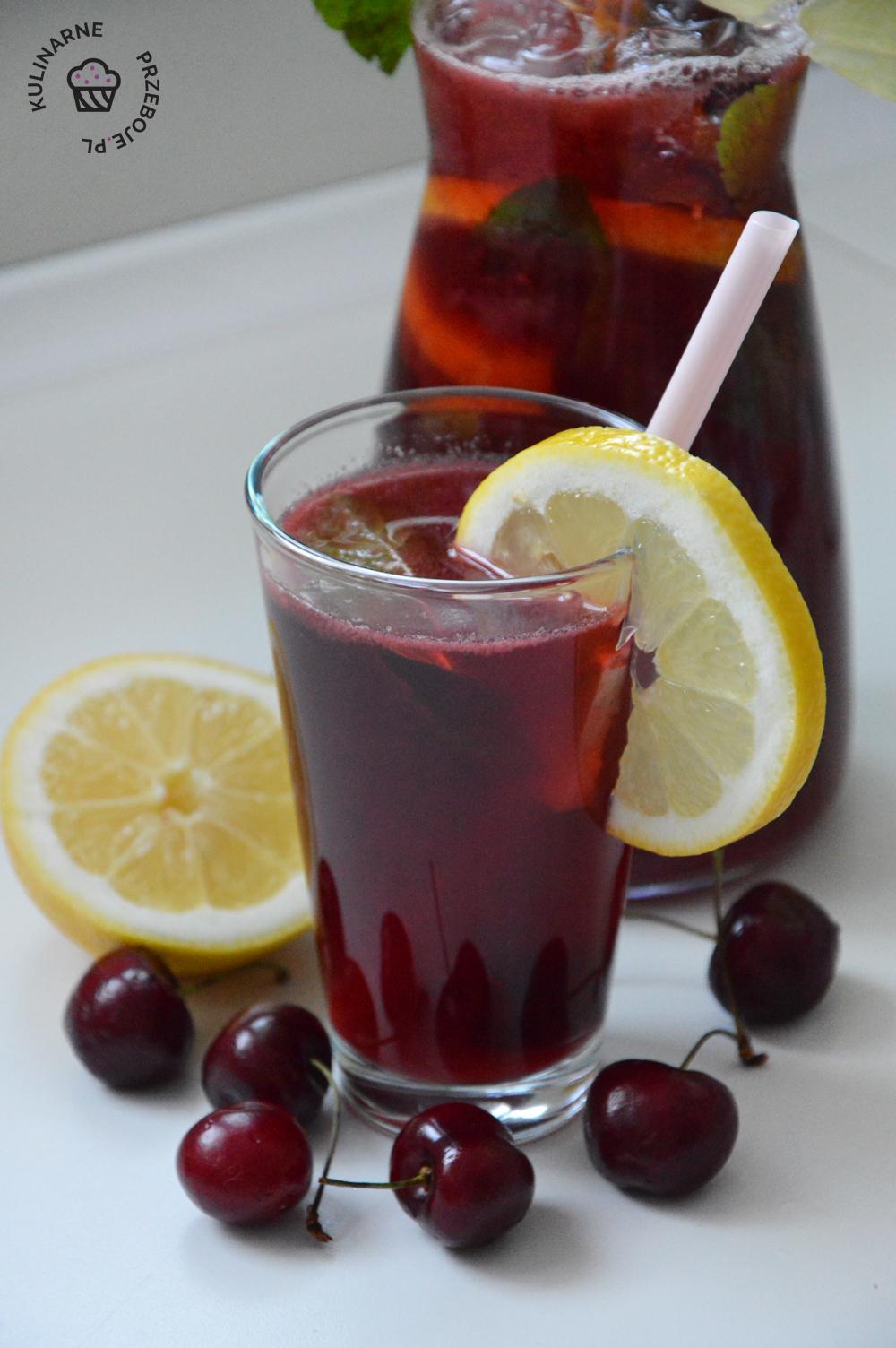 napój z cytryn i czereśni