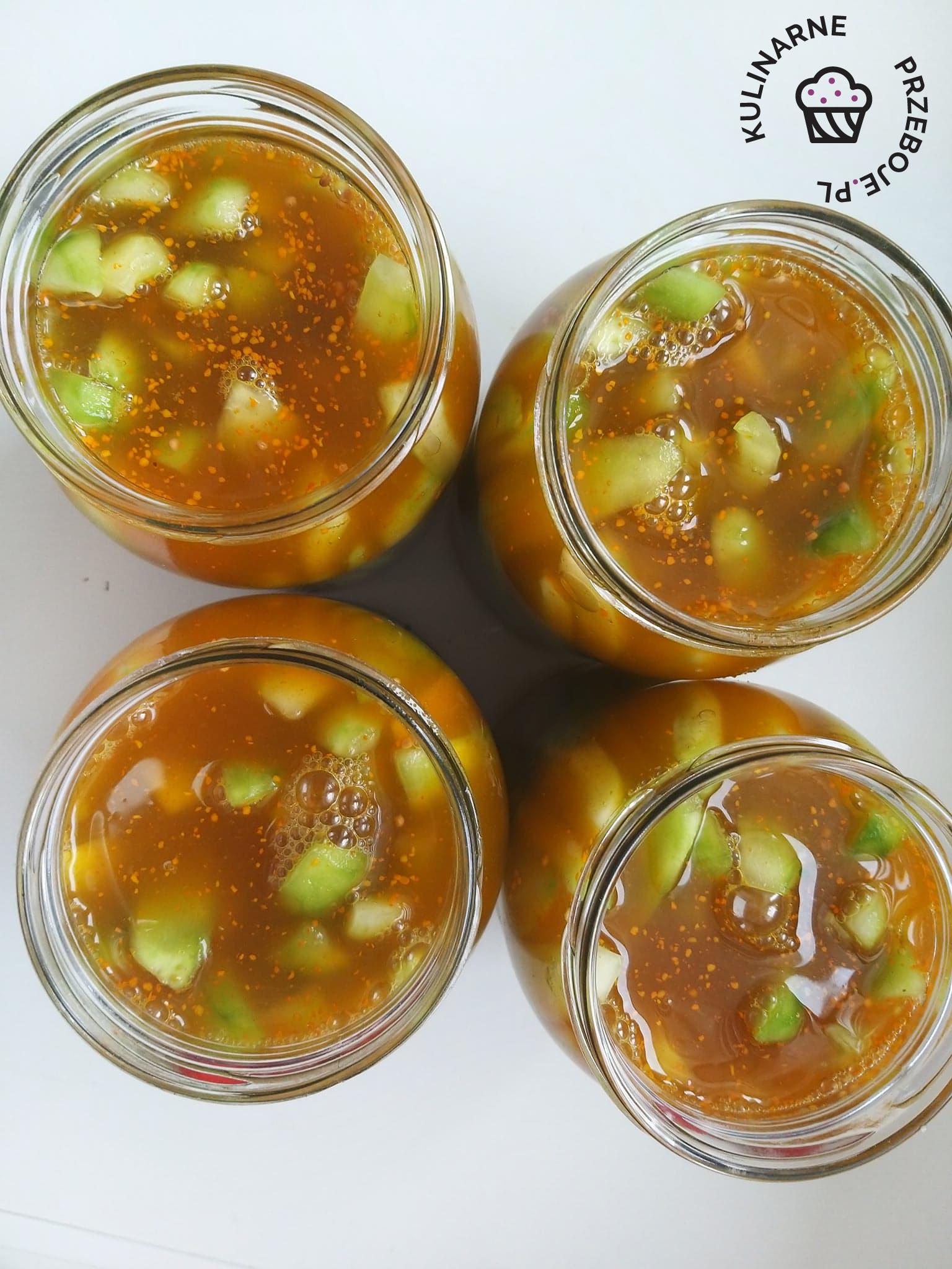 przepis na ogórki w zalewie curry