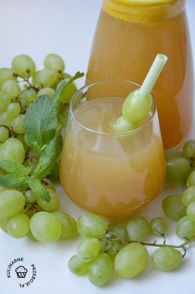lemoniada winogronowa przepis