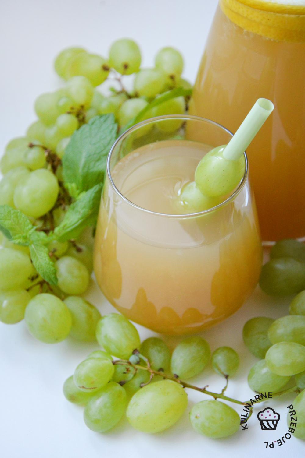 lemoniada z winogron i cytryn