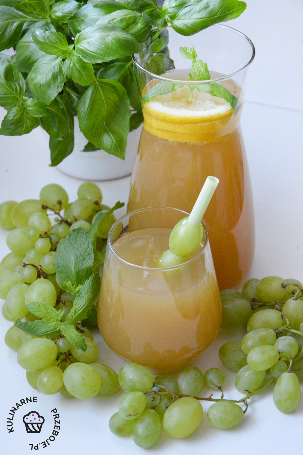 lemoniada z winogron przepis