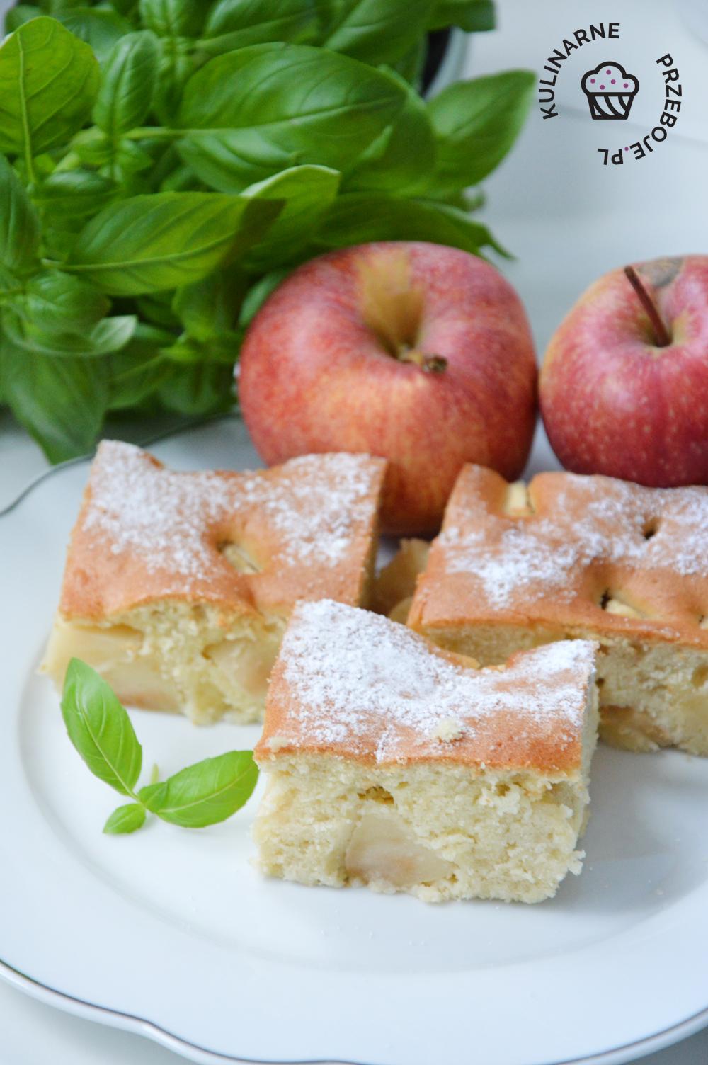 ciasto maślane z jabłkami