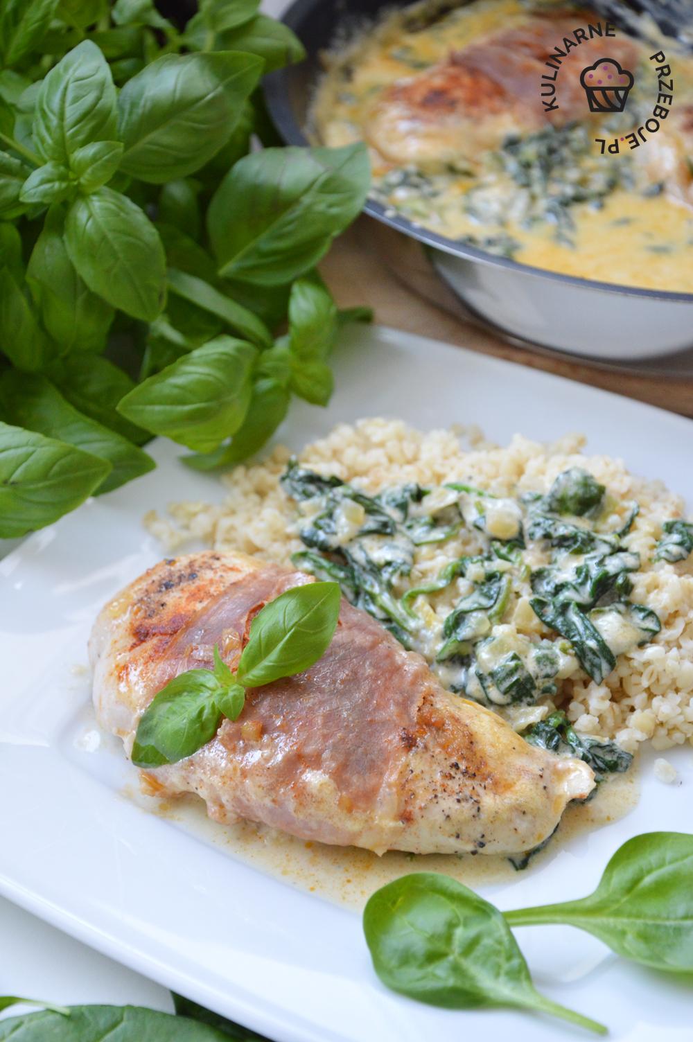 filety z kurczaka w sosie gorgonzola
