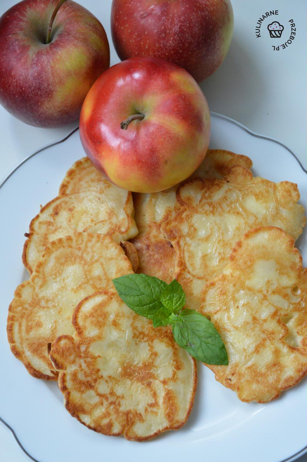 placki z jabłkami przepis