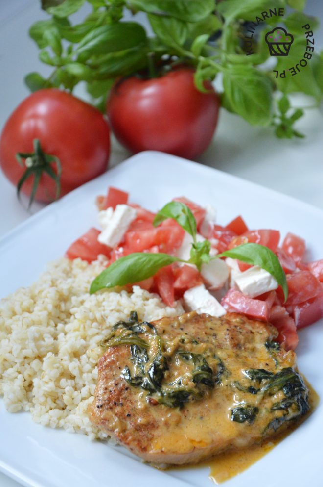 schab w sosie gorgonzola
