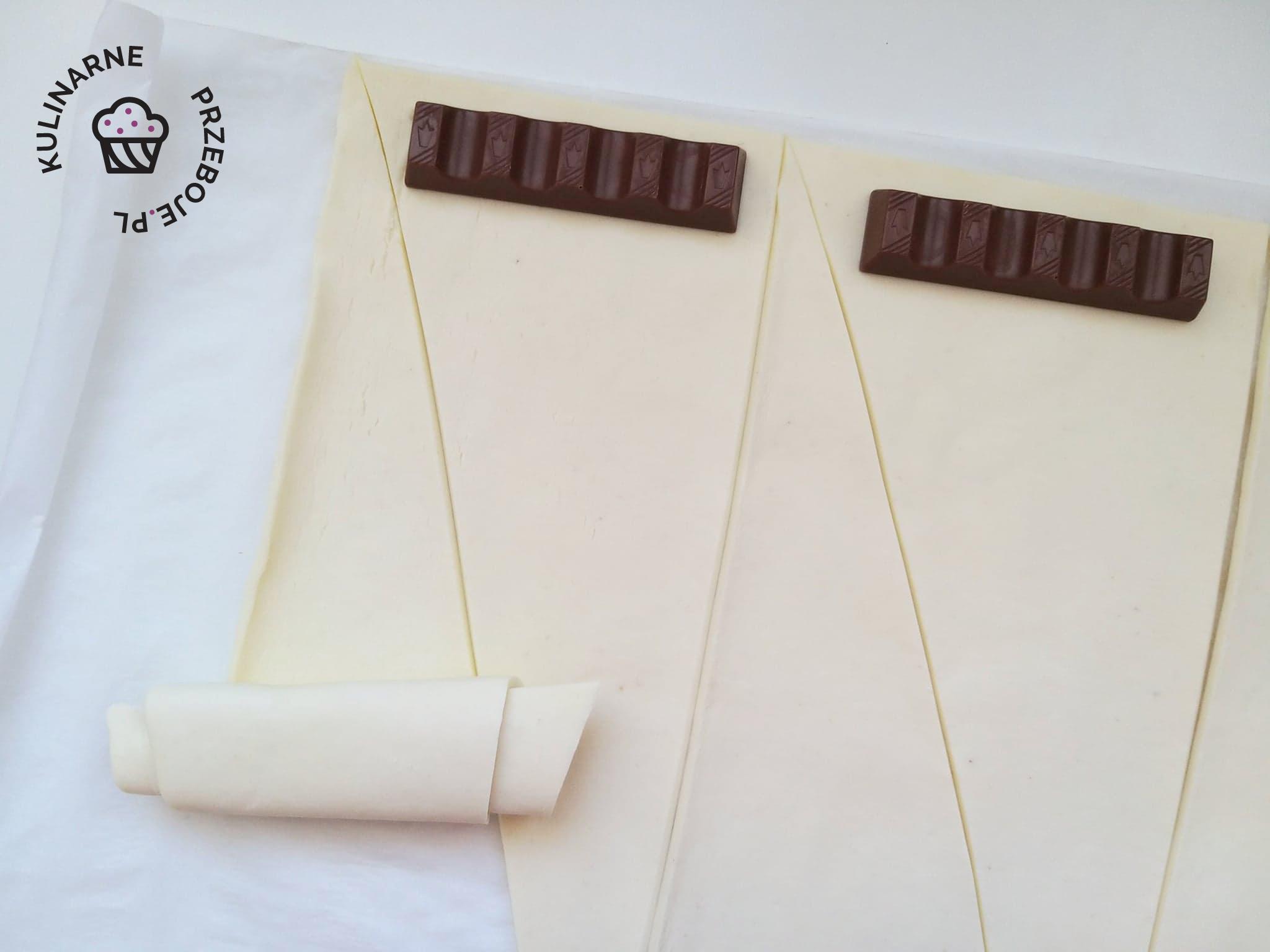 rogaliki z kinder czekolada
