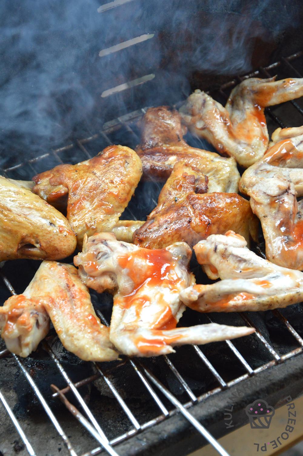 skrzydełka na grilla