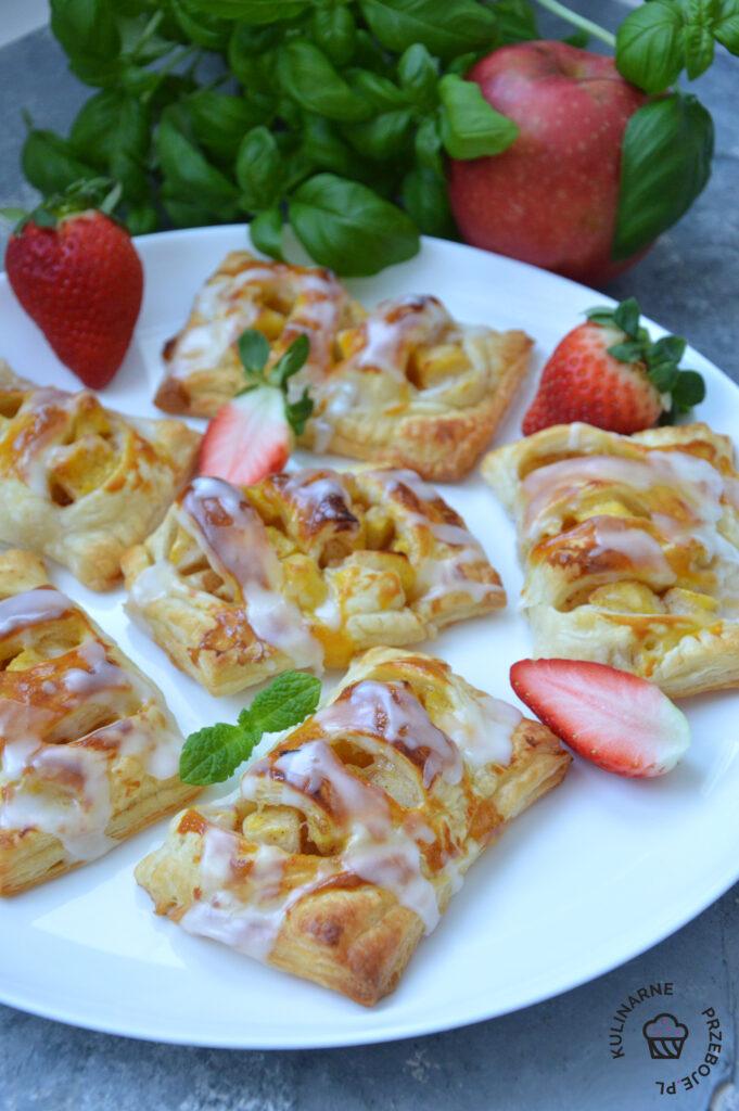 ciasto francuskie z jablkami przepis