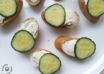 kanapeczki z lososiem wedzonym