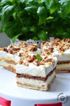 ciasto orzechowa dama bez pieczenia