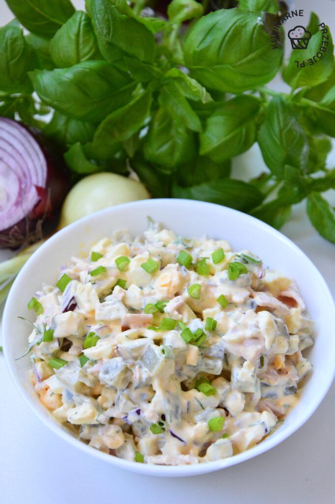 przepis na salatke jajeczna